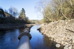Tubi di acqua concreti Fotografia Stock Libera da Diritti