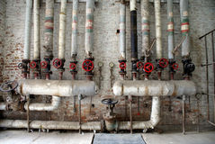 Tubi di acqua e del gas fotografie stock