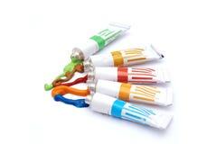Tubi di colore Fotografia Stock
