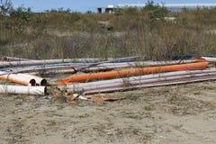 Tubi di plastica dell'impianto idraulico Immagine Stock