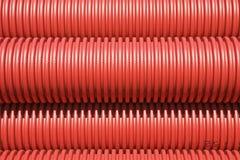 Tubi di plastica rossi Fotografia Stock Libera da Diritti