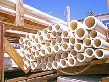 Tubi di plastica rotondi Fotografia Stock