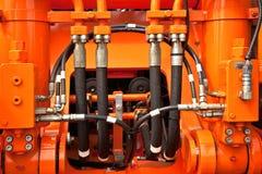 Tubi di pressione idraulica Fotografie Stock