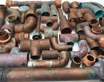 Tubi di rame Fotografie Stock