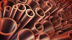 Tubi di rame Mucchio dei tubi rotondi del metallo royalty illustrazione gratis