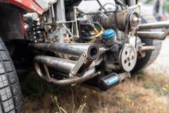Tubi di scarico dell'automobile fotografie stock