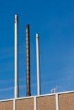 Tubi di scarico industriali Fotografie Stock Libere da Diritti