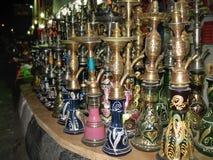 Tubi di tabacco di vetro variopinti Egypt fotografie stock libere da diritti