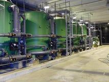 Tubi di trattamento delle acque Immagini Stock