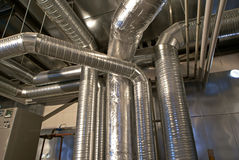 Tubi di ventilazione di uno stato dell'aria Fotografia Stock Libera da Diritti