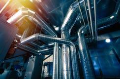 Tubi di ventilazione di uno stato dell'aria fotografie stock