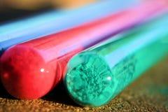 Tubi di vetro Fotografia Stock