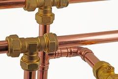 Tubi e montaggi del ` s dell'idraulico Immagini Stock Libere da Diritti