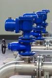 Tubi e valvole industriali Fotografie Stock