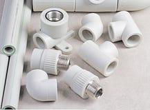 Tubi ed accessori del polipropilene Fotografia Stock
