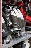 Tubi flessibili del camion dei vigili del fuoco Fotografia Stock Libera da Diritti