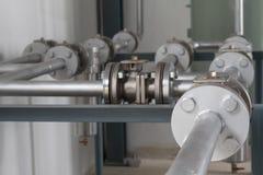 Tubi flessibili e valvole di alta pressione Fotografia Stock