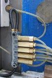 Tubi flessibili idraulici Fotografie Stock Libere da Diritti