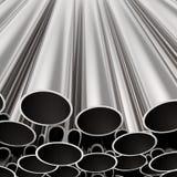 Tubi impilati del metallo illustrazione di stock