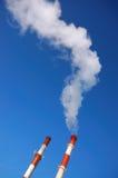 Tubi industriali affumicati Immagine Stock Libera da Diritti
