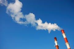 Tubi industriali affumicati Fotografia Stock Libera da Diritti