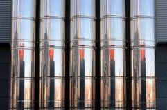 Tubi industriali del metallo di un sistema di ventilazione Fotografie Stock Libere da Diritti