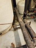 Tubi industriali dello scaldabagno Fotografia Stock Libera da Diritti