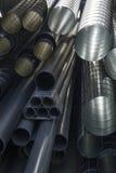 Tubi moderni del metallo Immagine Stock