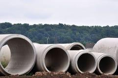 Tubi per fognatura concreti Immagine Stock Libera da Diritti