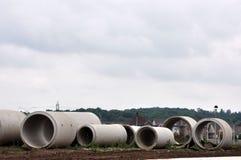 Tubi per fognatura concreti Fotografie Stock Libere da Diritti