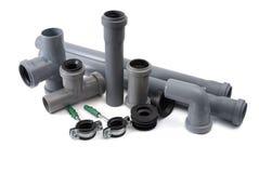 Tubi per fognatura del PVC Immagine Stock