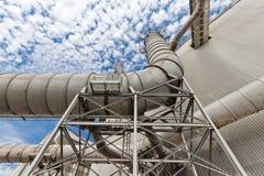 Tubi per il sistema di purificazione dell'aria Immagine Stock