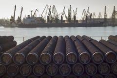 Tubi per petrolio o gas Fotografie Stock