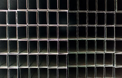 Tubi quadrati del metallo fotografia stock libera da diritti