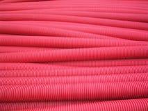 Tubi rossi del PVC Fotografie Stock Libere da Diritti