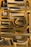 Tubi spessi di struttura dell'olio del Brown Fotografia Stock