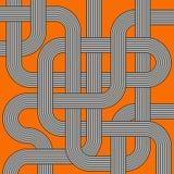 Tubi a strisce in bianco e nero del labirinto di vettore Fotografia Stock Libera da Diritti