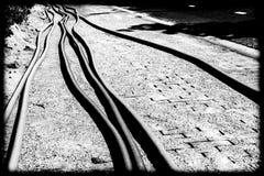 Tubi su un cantiere Fotografia Stock