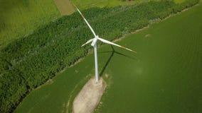 Tubine de vent tournant, longueur aérienne de bourdon banque de vidéos