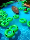 Tubing. On the water at a water park. looks refreshing Stock Photos