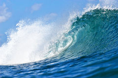 Tubing Blue Wave in Honolulu, Hawaii Stock Photos