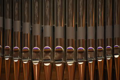 Tubing of a delicate musical organ Royalty Free Stock Images