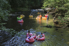 Tubing in Great Smoky Mountains National Park Royalty Free Stock Images