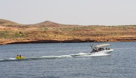Tubing at Lake Powell Stock Images