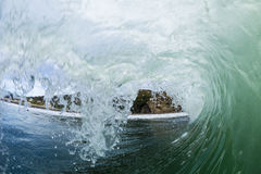 Tubing Wave, Piha, New Zealand Royalty Free Stock Photo