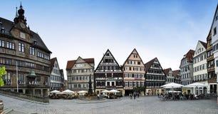 Tubinga Markt Platz - panorama fotografia de stock royalty free
