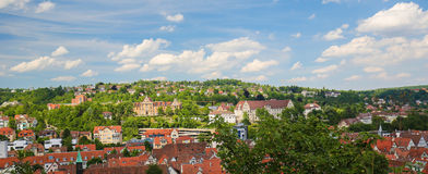 Tubingen, Baden-Wurttemberg, Germany. View from the Castle on the Altstadt or historical center of Tubingen, Baden Wurttemberg, Germany Stock Photos