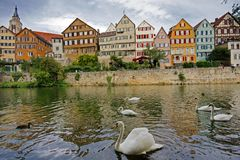 Tubingen (Tuebingen) miasto - Niemcy Zdjęcia Royalty Free