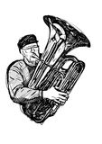 Tubist vector illustration Royalty Free Stock Photos