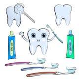 Tubka pasta do zębów lub śmietanka odizolowywający na białym tle royalty ilustracja